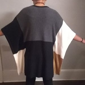 august silk Sweaters - August Silk Block Pattern Winged Shrug Sweater